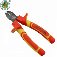 BERRYLION 6''/150mm Cutting Pliers VDE Insulated Diagonal Wire Cutters CR-V With TPE Handle Electrician Tools(China)