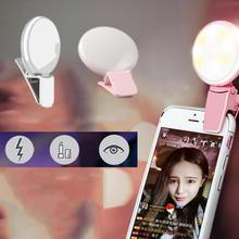 Portable Rechargeable Selfie Flash Clip-On LED Fill Camera Lamp Light for Mobile Cell Phone Hot new