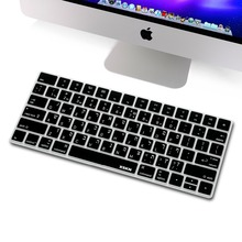 XSKN Hebrew keyboard Cover for Magic Keyboard, XSKN Isreal Hebrew Black Silicone Keyboard Skin for Apple Wireless Magic Keyboard(China)