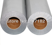 One Roll 0.5 x 20M Silver Color Reletive Heat Transfer Vinyl,Cutting Plotter Film, Heat Transfer Film(China)