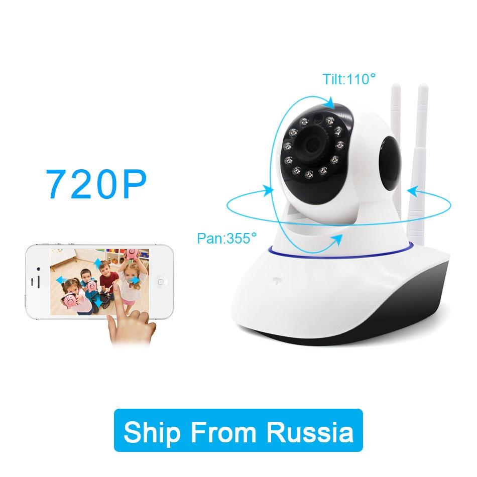 720P Wifi IP Camera P2P Network Wireless Onvif IP Kamera PTZ HD Home Security CCTV Cameras SD Card Night Vision Baby Monitor<br>