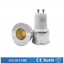 LED GU10 COB mini GU10 MR16 MR11 6w 35mm dimmable  Warm White daylight Cold white Spot Light Bulb Lamp replace halogen lamp 10X