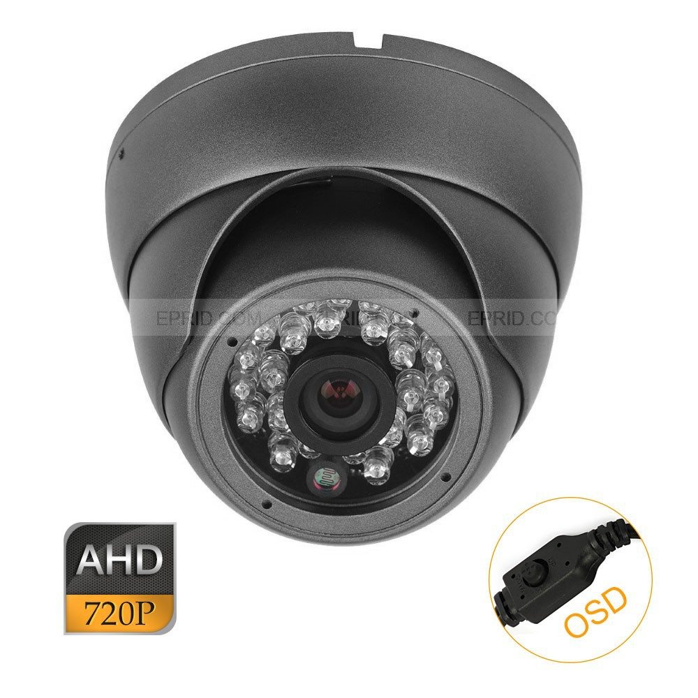 CCTV AHD 1.0MP 720P OSD Mini Security Indoor Metal Dome Camera 24IR<br>