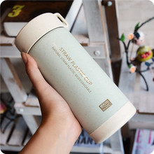 bpa-free 300ML Hot Selling milk tea cup  of NATURAL Green Wheat Straw PLASTIC BIODEGRADABLE Drinking coffee Mugs