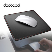"dodocool 2 in1 PU Leather Mouse Pad with Carrying Case Non-slip Base Stitched Edges Gamer Mouse Pad 7.48""x7.48""x0.06"" New 2017(China)"