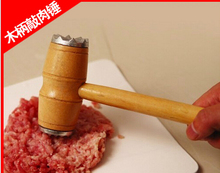 High Quality Wood Double Sides Steak Pounder Meat Pounder Steak Hammer Cooking Tools Free Shipping