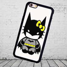 Kid Hello Kitty Batman  TPU mobile phone case cover for iphone 5s 4s 5c 6 6S 7plus for Samsung S3/4/5/6/7/8 edge phone shell