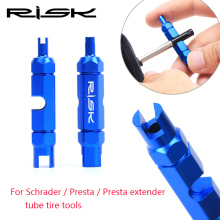 Buy Risk Bicycle Tube Tire Valve Cores Remove Install Tools Road Bike MTB Schrader / Presta / Presta Valve Extender Tools for $6.40 in AliExpress store