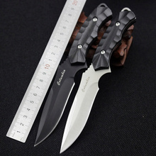 CS COLD Multi-function Portable Pocket Survival Rescue Utility Straight Knife Camping Hunting Knife Sheath Fixed Blade