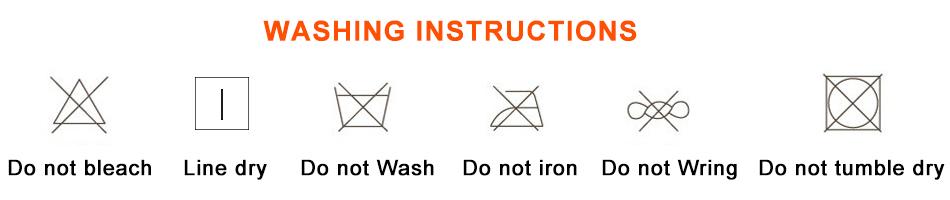 sun hat washing notice