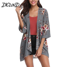 Buy DICLOUD Fashion Printed Chiffon Kimono Women 2018 Loose Thin Summer Tops Female Boho Plus Size Blouse Flowers Cardigan Clothes for $8.99 in AliExpress store