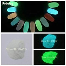 Night Glow Sky blue Green Luminescent powder phosphor powder,DIY Nail enamel powder,100g/bag,glow powder,Decoration pigment(China)