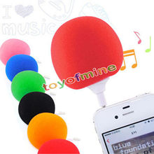 Newest Portable Mini Wired 3.5mm Portable Music Sponge Ball Speaker For Mobile Cell Phones iphone ipad Tablet PC MP3