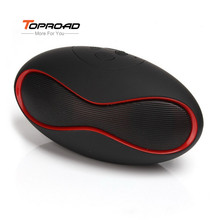 Toproad Rugby Som Blutooth Boombox Mini Portable Speaker Wireless Bluetooth Speaker FM TF Card with Bass Portable Audio Player(China)