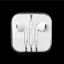 earpods 3.5mm in-ear Earphone earpod wired earphones with box For iPhone 4 4s 5 5s 6 6s 6splus For ipad 2 3 4 mini mp3 mp4 gps