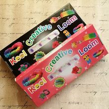 New Style !! 2sets/lot Loom Bands Kit Rubber Bracelets ( 600pcs Rubber Bandz + 24 S clips )(China)