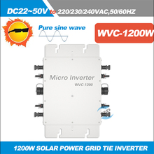GRID TIE INVERTER 1200W Micro Pure sine wave Inverter Input DC22V-50V to AC180-260V,50/60HZ Waterproof Solar Inverter IP67(China)