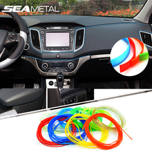 5M Car Mouldings Trims Strips Car Interior Moulding Decorative Strip Brand Stickers Thread Interior Plating Decals Auto Styling