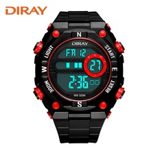 DIRAY Youth Sports Association watch luminous waterproof multifunction electronic watch and watch the boy students' personality