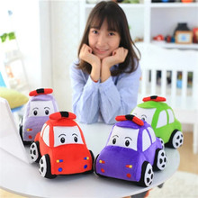 2017 New Arrive Creative 23cm Small Car Plush Toy Doll Children's Toy Car Pillow Children Birthday Gifts 4 Colors High Quality