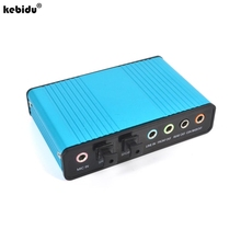 kebidu New External USB Sound Card Channel 5.1 Optical Audio Card Adapter Professional for PC Computer Laptop Wholesale