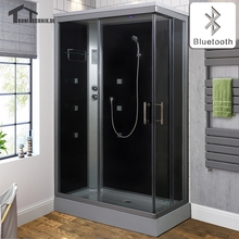 70CM Right Head Shower Bluetooth Cabin Room Cubicle Bath NO Steam bath douche Bathroom Jett Massage glass shower Enclosure