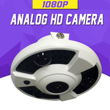 AHD Camera 1080P SONY CMOS 1.7mm Fisheye Lens 2.0 Megapixel Full HD 15m Night Vision HD CVI HD TVI 4 in 1 Clock Camera AHD