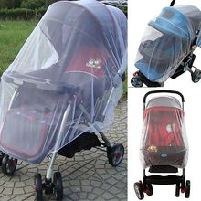 Infants Baby Stroller Pushchair Cart Mosquito Insect Net Safe Mesh Buggy Crib Netting Baby Car Mosquito Net Outdoor protect(China)