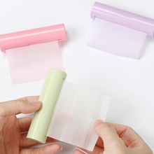Convenient Pull type Key Ring Hand Wash Paper Soap Antibacterial Antivirus Flakes Travel portable Scented Slice Bath Soap(China)