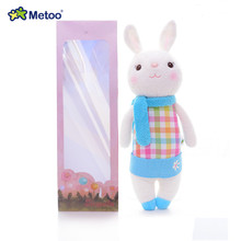 Official METOO Stuffed Blue Dolls Tiramitu Bunny Plush Doll Scarf Rabbit Toys for Kids Girl Gift Collection(China)