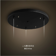 Ceiling Base Plate Vintage Metal Ceiling DIY Lighting Accessories Light Round,Rectangle Black,White foor