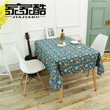 2017 New Cotton Tablecloth Printed Deer Linen Customized Furniture Dust Proof Cover DIY Fabric Table Cloth