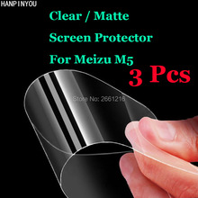 "3 Pcs/Lot For Meizu M5 / Meilan 5 5.2"" HD Clear / Anti-Glare Matte Front Screen Protector Touch Film Protection Skin(China)"