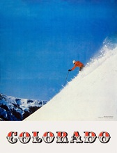 Skiing in Colorado America Vintage Retro Kraft Travel Poster Decorative DIY Wall Sticker Home Bar Posters Decoration Kid Gift