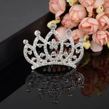 Bridal Wedding Rhinestone Crystal Tiara Crown Headband Hair Comb Prom Pageant-Y094(China)