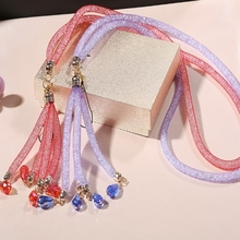 Luxury Bling Rhinestone Diamond Phone Lanyard Straps Fashion Shiny Cell Phone Charm Colorful Sparkly Jewelry Long Neck Mobile Ch