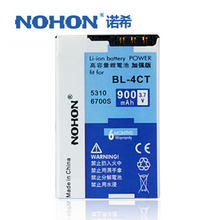 Original NOHON Phone Battery BL-4CT For Nokia 7230 7210 5310 X3 6700S 5630 7310c 6600f 3720 BL4CT 900mAh BL 4CT Bateria Package(China)