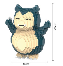 HC Magic Blocks Large size Pokemon go DIY Building Bricks Snorlax Auction Figure Pokemon Micro Blocks Kids toys Girls Gift 9022