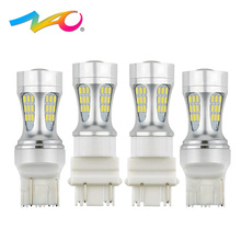 NAO 2x t20 led w21/5w 7443 led car light w21w 7440 auto t25 led bulb 3157 3156 Signal lamp brake DRL Indicator Rear fog lights(China)