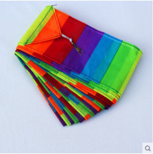 Free Shipping Outdoor Fun Sports Kite Accessories /10m Rainbow bar Tail  For Delta kite/Stunt kite Kids Gift