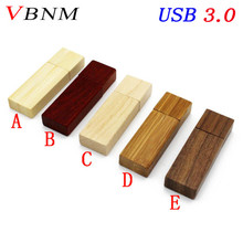 VBNM USB 3.0 Custom LOGO Wooden memory Stick usb flash drive pen drive pendrive 4gb 8gb 16gb 32GB U disk wedding gift(China)