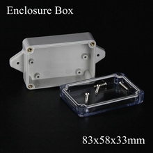 83x58x33mm IP66 ABS Waterproof electronic enclosure project box Distribution control switch junction outlet case Clear cover(China)