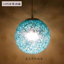 Bamboo bird's nest round hemp ball lamp simple creative rattan bamboo decorated restaurant garden bar hanging pendant light ZH