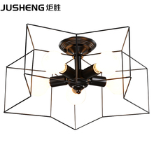 Simple and creative five - pointed star light modern personality bedroom ceiling lamp living room dining room lamps