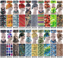 EXPRESS Shipping Wholesale New Unixed Outdoor Sports Camo Cycling Bandana Magic Camouflage Scarf Military Headwear 100pcs/lot