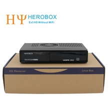 [Genuine] HEROBOX EX3 HD DVB-S2+DVB-T2+DVB-C HD Linux Enigma2 Satellite Receiver Without WiFi Tuner 752MHZ MIPS Free shipping