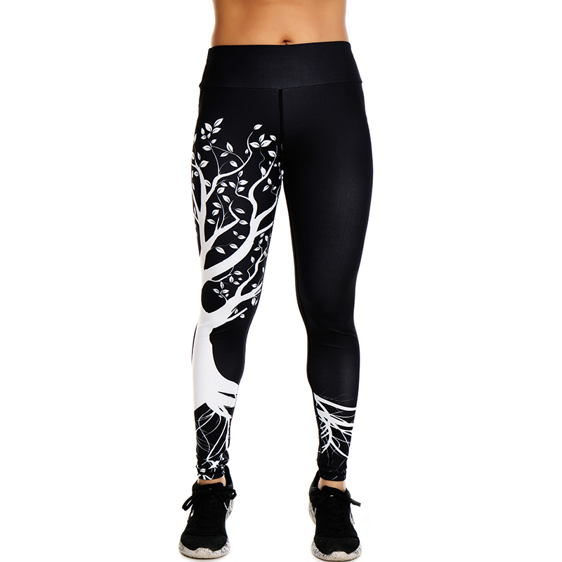 Yoga Leggings Tree Printed Dry Fit Sports Tights for Women 5