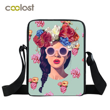 Kpop Punk Women Messenger Bag Girls School Bags Hip Hop Style Mini Shoulder Bag Women Handbags Cool Rock Style Kids Crossbody