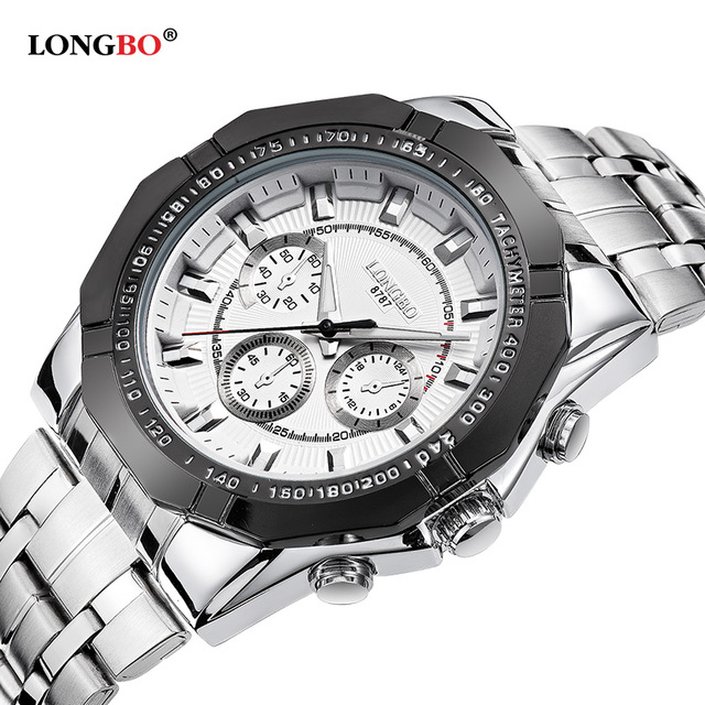 LONGBO Military Men Stainless Steel Band Sports Quartz Watches Dial Clock For Men Male Leisure Watch Relogio Masculino 8787<br><br>Aliexpress