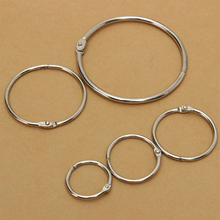 New Hinged Rings Book Craft Photo Album Scrapbook Split Ring Keyring 10pcs/set